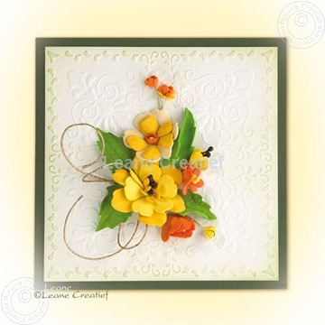 Bild von Foam flowers with set 4 yellow