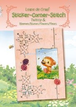 Picture of Sticker-Corner-Stitch® with Twinny® & flowers