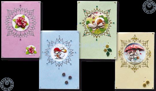 Image sur Sticker-V-Stitch avec Mylo & Friends® & fleurs
