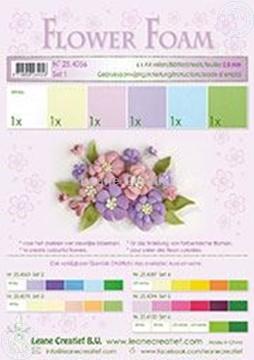 Picture of Flower foam set 1 pastel colours