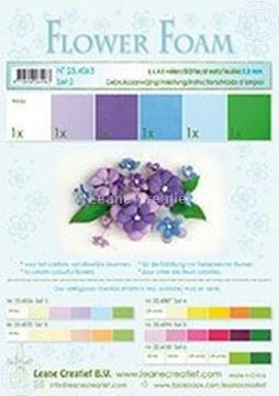 Picture of Flower foam set 2 blue/violet