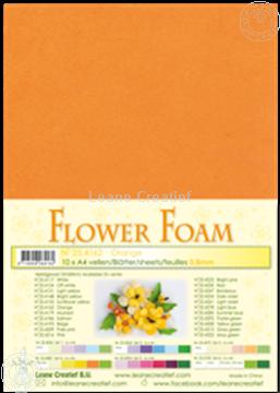 Image de Flower foam A4 sheet orange