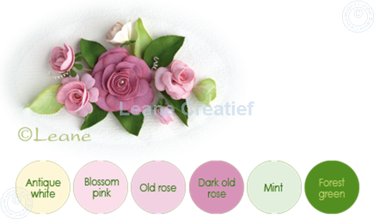 Image sur Flower foam set 8 couleurs rose