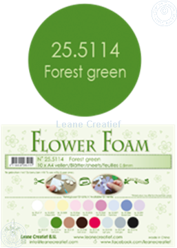 Picture of Flower foam A4 sheet forest green