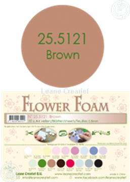 Picture of Flower foam A4 sheet brown