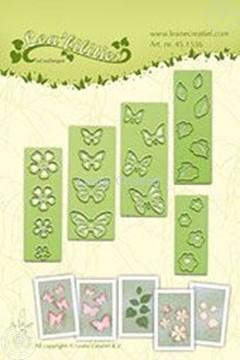 Afbeeldingen van Small butterflies & flowers