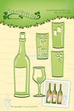 Picture of Wine bottle & glass
