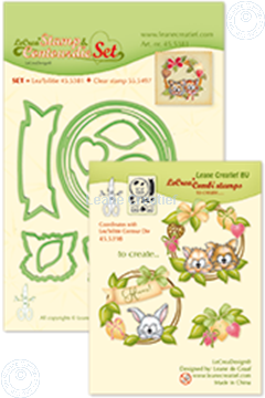 Afbeeldingen van Set Lea'bilitie&Clearstamp Wreath with pets