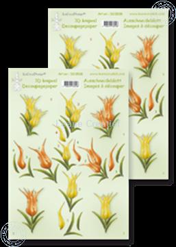 Afbeeldingen van LeCreaDesign® knipvellen tulpen