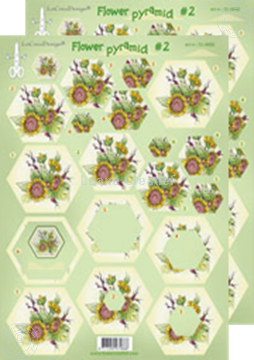 Picture of Pyramid flower decoupage sheets #P2