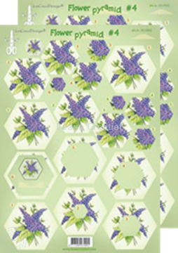 Picture of Pyramid flower decoupage sheets #P4