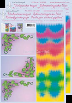 Afbeeldingen van LeCreaDesign® Vlindersticker knipvellen