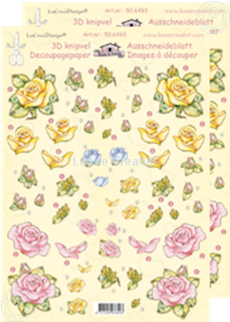 Picture of LeCreaDesign® Roses small decoupage papers