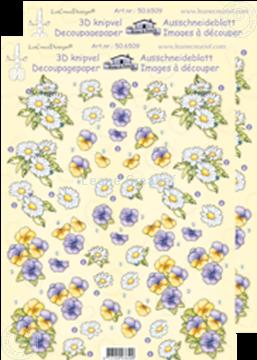 Afbeeldingen van LeCreaDesign® Bloemen klein knipvellen