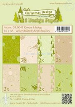 Picture of Design sheets Christmas Green & Beige A5