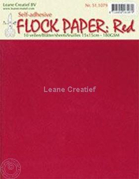 Afbeeldingen van Flock paper red 15x15cm