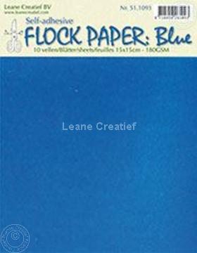 Afbeeldingen van Flock paper blue 15x15cm