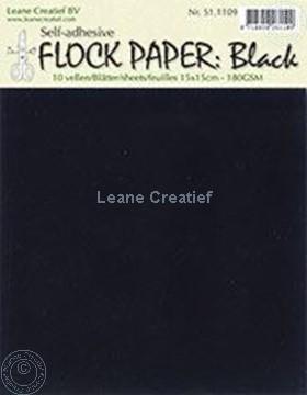Afbeeldingen van Flock paper black 15x15cm