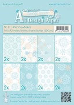Afbeeldingen van Winter design paper Snowflakes