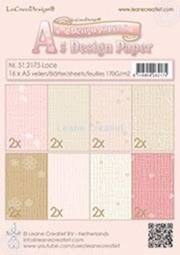 Afbeeldingen van Design paper Lace pink/brown