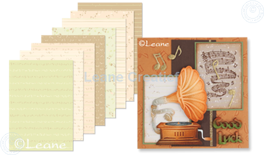 Image sur Design Paper Music salmon/green/brown