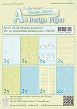 Image de Design Paper Music blue/green