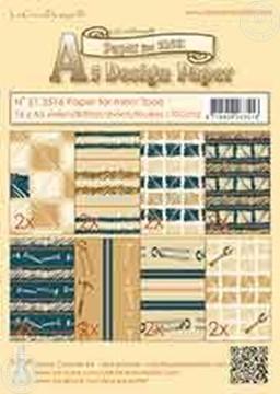 Picture of Design Paper Men tools blue/brown