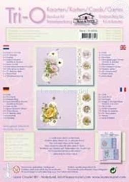 Picture of Tri-O-cards embroidery kit rose/magnolia