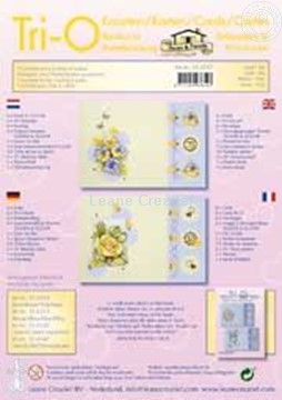 Picture of Tri-O-cards embroidery kit yellow/lilac