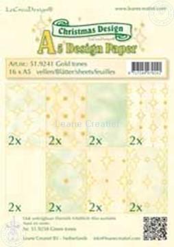 Bild von Design Bogen gold tones A5