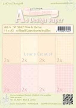 Afbeeldingen van Design papier Pink & Ochre A5