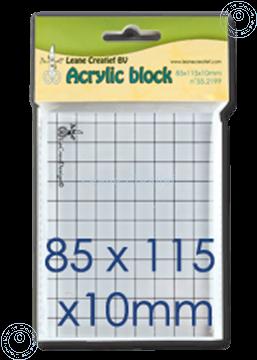 Afbeeldingen van Acrylic block 85x115x10mm