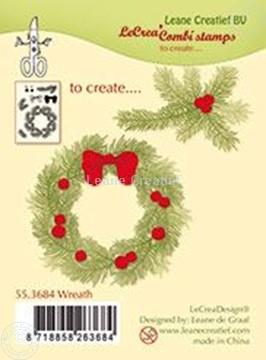 Afbeeldingen van Combi stamp Wreath