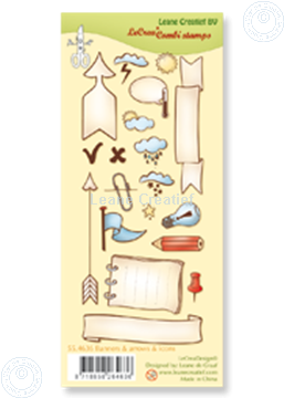 Picture of Clear stamp Banners, arrows & icons