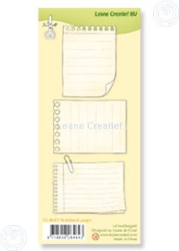 Image de Clear stamp Notebook pages