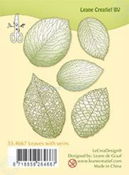 Picture of Clear stamp leaves with veins