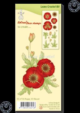 Image de Clear stamp Poppy 3D flower