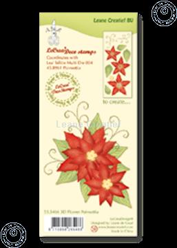 Image de Clear stamp 3D flower Poinsettia