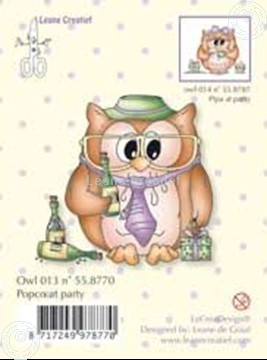 Image de Clearstamp Owlie's Popco at party