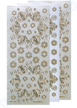Picture of Christmas stickers Pearl silver gold snowflake