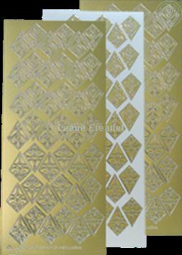 Afbeeldingen van LeCreaDesign® Rozetten stickers goud