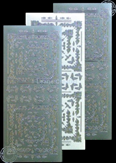 Afbeelding van LeCreaDesign® Hoekborduur Sticker zilver