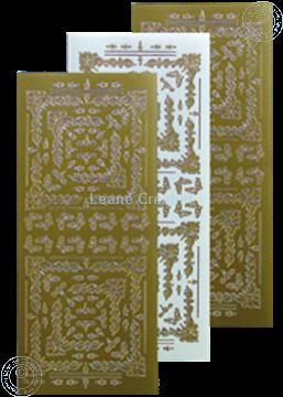 Afbeeldingen van LeCreaDesign® Hoekborduur Sticker goud