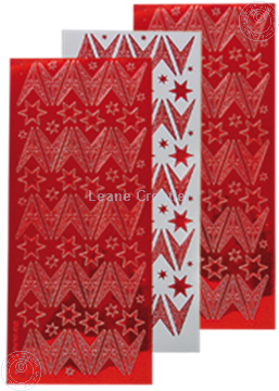 Picture of Christmas stickers mirror red star