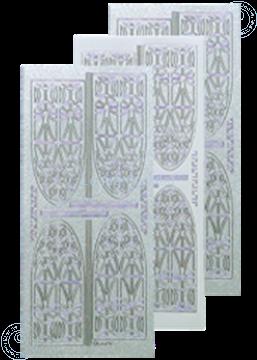 Afbeeldingen van LeCreaDesign® kerkraam sticker pearl zilver