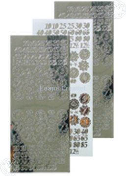 Picture of LeCreaDesign® sticker jubilee numbers mirror silver