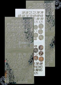 Picture of LeCreaDesign® sticker jubilee numbers mirror silver