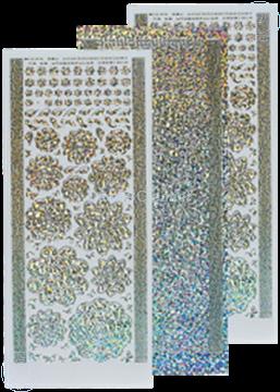 Picture of LeCreaDesign® flower stickers / peel offs diamond/silver