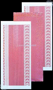 Afbeeldingen van Lijn stickers diamond roze