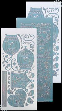 Afbeeldingen van LeCreaDesign® sticker vogelkooitjes mirror ice